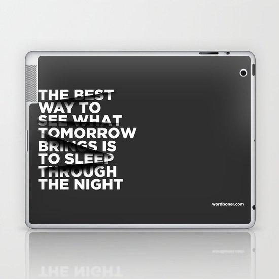 Sleep Through The Night Laptop & iPad Skin