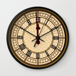 Big Ben Midnight Clock Face Wall Clock