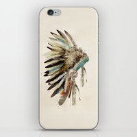 headdress iPhone & iPod Skins featuring headdress by bri.buckley