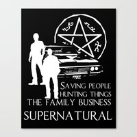 supernatural Canvas Prints featuring Supernatural  by BehindSky