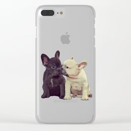 Frenchie kiss Clear iPhone Case