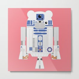 Robot R2 D2 Metal Print