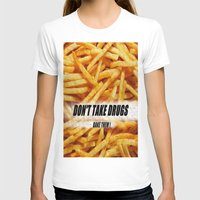 french fries T-shirts featuring French Fries by Ispas Sorin