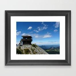 Mountain lookout Framed Art Print