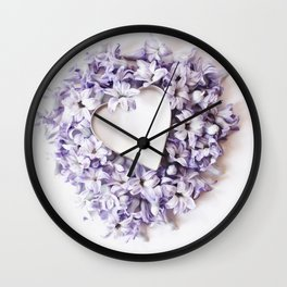 Hyacnth Heart Wall Clock