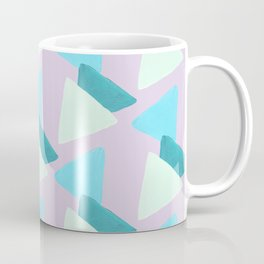 Pastel Pink Blue Green Geometric Triangle Pattern Coffee Mug