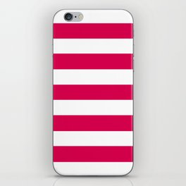 UA red - solid color - white stripes pattern iPhone Skin