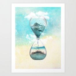 11th Hour Glass Art Print