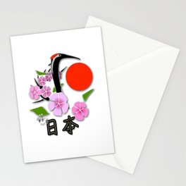 Tsuru Bird - The Legendary Japanese Bird (Accessories Lifestyle & T- Shirts) Stationery Cards