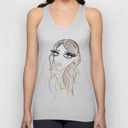 Bored in Gold Unisex Tank Top