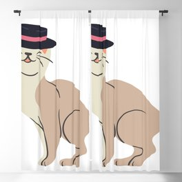 Cat With A Hat Blackout Curtain