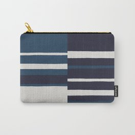 painted broken stripe-blue Carry-All Pouch