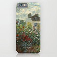 Claude Monet  A Corner of the Garden with Dahlias iPhone 6s Slim Case