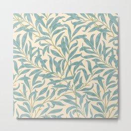 William Morris Vintage Willow Bough Summer Green Cream Botanical Metal Print