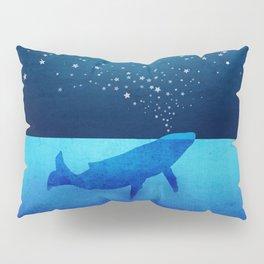 Whale Spouting Stars - Magical & Surreal Pillow Sham