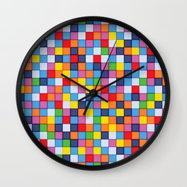 Abstract colorful mosaic pattern Wall Clock