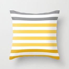 Stripes Gradient - Yellow Throw Pillow