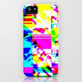Glitch geometric pattern design artwork iPhone Case