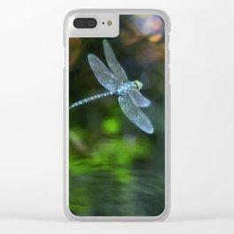 Dragonfly - Blue Eyed Darner - in Flight Clear iPhone Case