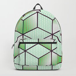 Electric Cubic Knited Effect Design Backpack