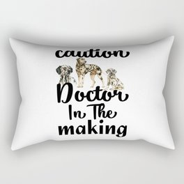 Caution Dog Doctor In the Making Rectangular Pillow