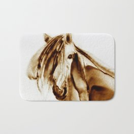 Horse Blowing Bath Mat
