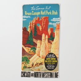 Vintage poster - Bryce Canyon Beach Towel