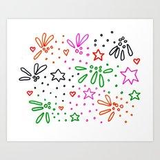 Festive pattern Art Print