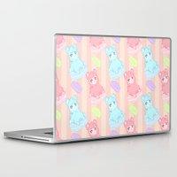 macaron Laptop & iPad Skins featuring Bubblegum Macaron!! by himehorse