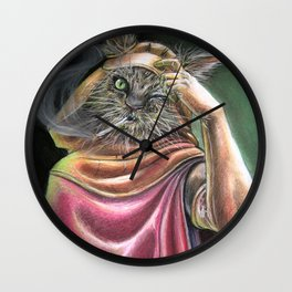 Vagabond Cat Wall Clock