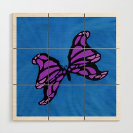 Purple Butterfly Wood Wall Art
