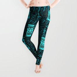 Turquoise Tikis! Leggings