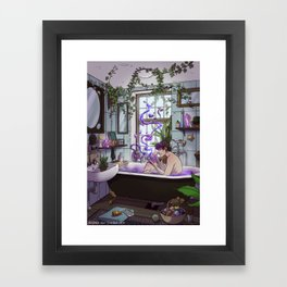 Modern Male Witch Bathroom Framed Art Print