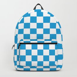 Oktoberfest Bavarian Large Blue and White Checkerboard Backpack