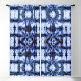 Blue Oxford Shibori Blackout Curtain