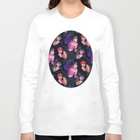 grimes Long Sleeve T-shirts featuring Grimes repeat by Helen Green
