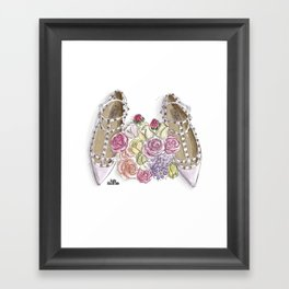 Ballerina's Dream Shoes Framed Art Print