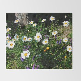 Wildflowers by the River Throw Blanket