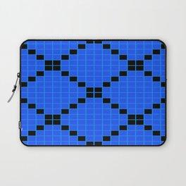 Blue and Black Grid Crosstile Laptop Sleeve