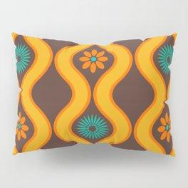 1970's Design Brown Orange Blue Pillow Sham