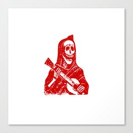 Grim Reaper With Guitar Canvas Print