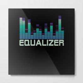 Equalizer Music Booster Metal Print
