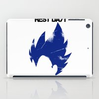 vegeta iPad Cases featuring Vegeta - Rest? Never Heard of it. by luvusagi