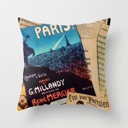 BELLE EPOQUE IN PARIS Throw Pillow