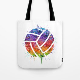 Volleyball Ball Colorful Watercolor Art Sports Gift Tote Bag