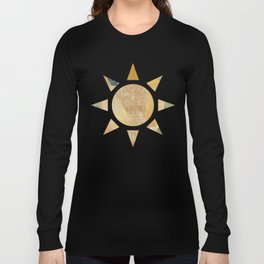 Abstract Grunge Patchwork Long Sleeve T-shirt
