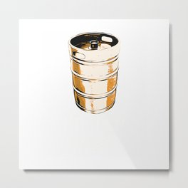 I'd Tap That Beer Brewery Funny Gift Craft Barrel Foam Brew T-Shirt Metal Print
