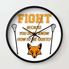 "The Foxhole Court – ""Fight"" – All For The Game Wall Clock"