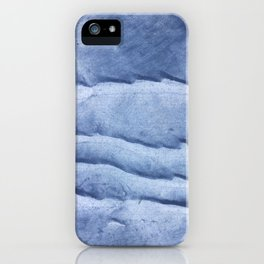 Blue abstract watercolor iPhone Case