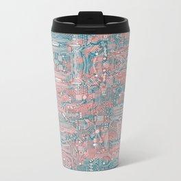 Circuitry Details 2 Metal Travel Mug